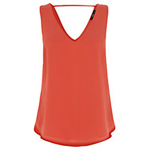 Buy Oasis V Front V Back Vest, Orange Online at johnlewis.com