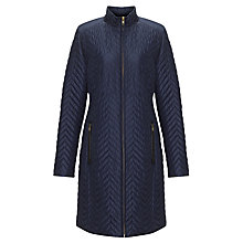 Buy John Lewis Mini Quilted Long Zip Coat Online at johnlewis.com