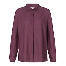 Buy Collection WEEKEND by John Lewis Jacquard Blouse, Burgundy Online at johnlewis.com