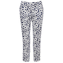 Buy Collection WEEKEND by John Lewis Daisy Print Cotton Trousers, Navy Online at johnlewis.com