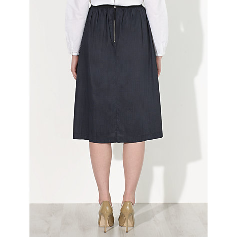 Buy Collection WEEKEND by John Lewis Jacquard Print Full Skirt, Grey Online at johnlewis.com