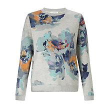 Buy Collection WEEKEND by John Lewis Waterflower Print Sweatshirt, Calypso Coral Online at johnlewis.com