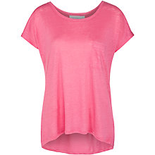 Buy Collection WEEKEND by John Lewis Dipped Hem Linen Top, Fandango Pink Online at johnlewis.com
