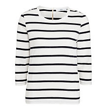 Buy John Lewis Zip Back Breton Stripe Top Online at johnlewis.com