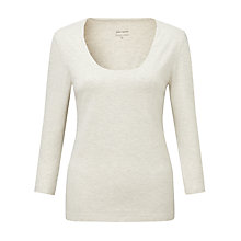 Buy John Lewis Capsule Collection Double Front Scoop Neck Top Online at johnlewis.com
