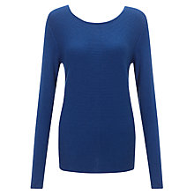 Buy John Lewis Capsule Collection Ribbed Jumper, True Blue Online at johnlewis.com