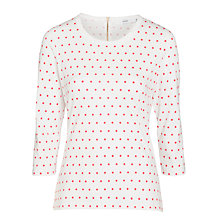 Buy John Lewis Zip Back Spot Print Top Online at johnlewis.com