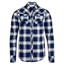 Buy G-Star Raw Arc Check Shirt, Deep Blue Sea Online at johnlewis.com