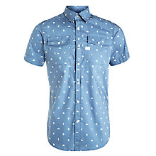 Buy G-Star Raw Landoh Short Sleeve Shirt, Blue Online at johnlewis.com