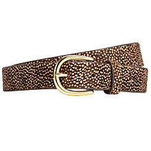 Buy Collection WEEKEND by John Lewis Animal Print Leather Belt, Multi Online at johnlewis.com