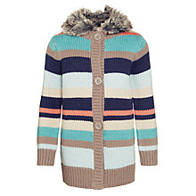 Buy John Lewis Girl Stripe Knit Cardigan, Multi Online at johnlewis.com