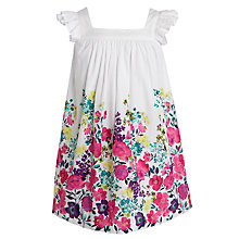 Buy John Lewis Girl Flower Border Dress, Multi Online at johnlewis.com