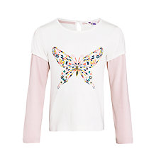 Buy John Lewis Girl Layered Sleeve Butterfly Top Online at johnlewis.com