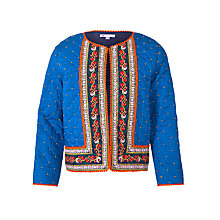Buy John Lewis Girl Embroidered Jacket, Blue Online at johnlewis.com