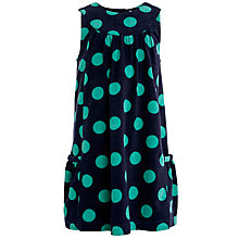 Buy John Lewis Girl Spot Corduroy Pinafore Dress, Navy/Green Online at johnlewis.com