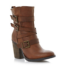 Buy Steve Madden Rutgers Leather Buckle Boots Online at johnlewis.com