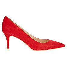 Buy Jigsaw Milly Suede Point Toe Kitten Heel Court Shoes Online at johnlewis.com