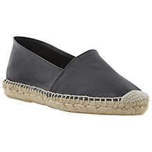 Buy Bertie Jaylee Slip-On Espadrilles, Black Online at johnlewis.com