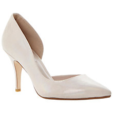Buy Dune Charlote Semi D'Orsay Pointed Toe Heeled Leather Court Shoes Online at johnlewis.com