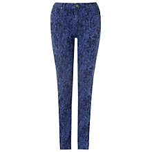Buy Phase Eight Victoria Floral Jacquard Jeans, Blue Online at johnlewis.com