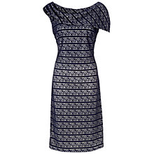 Buy Gina Bacconi Banded Stripe Dress, Navy Online at johnlewis.com