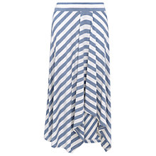 Buy Phase Eight Sian Striped Midi Skirt, Denim/Ivory Online at johnlewis.com