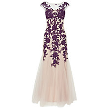 Buy Phase Eight Rita Tulle Dress, Nude/Blackcurrant Online at johnlewis.com