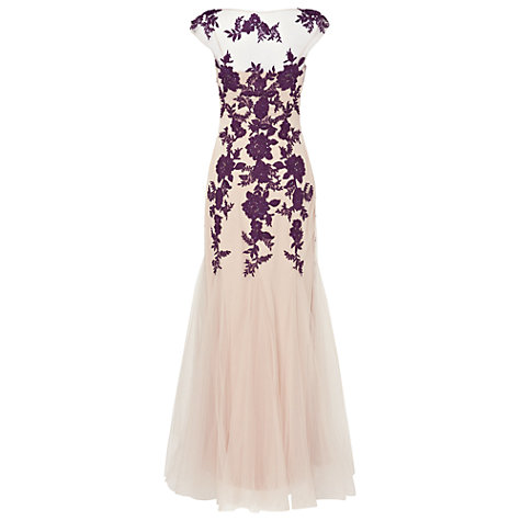 Buy Phase Eight Collection 8 Rita Tulle Dress, Nude/Blackcurrant Online at johnlewis.com