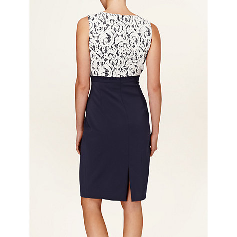 Buy Phase Eight Matilde Lace Dress, Navy/Cream Online at johnlewis.com