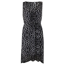 Buy Mint Velvet Lottie Print Asymmetric Dress, Black/White Online at johnlewis.com