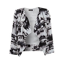 Buy Mint Velvet Cara Print Jacket, Black Multi Online at johnlewis.com