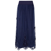 Buy Phase Eight Mabel Maxi Skirt, Navy Online at johnlewis.com