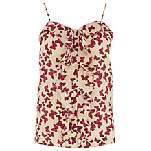 Buy Oasis Butterfly Print Camisole Top, Multi Online at johnlewis.com