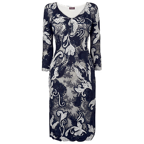 Buy Phase Eight Amelie Tapework Dress, Navy Online at johnlewis.com