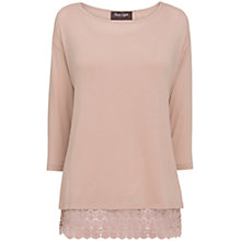 Buy Phase Eight Amelia Lace Hem Top, Pink Online at johnlewis.com