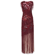 Buy Phase Eight Plaza Fringe Dress, Claret Online at johnlewis.com