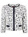 Buy Phase Eight Matilde Lace Jacket, Navy/Cream, 10 Online at johnlewis.com