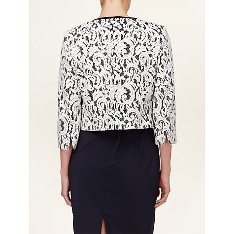 Buy Phase Eight Matilde Lace Jacket, Navy/Cream Online at johnlewis.com