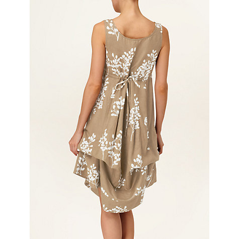 Buy Phase Eight Laurel Printed Linen Blend Hook-Up Dress, Neutral Online at johnlewis.com