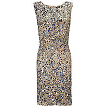 Buy Gina Bacconi Sequin Dress, Blue Multi Online at johnlewis.com