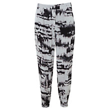 Buy Mint Velvet Cara Print Trouser, Black Multi Online at johnlewis.com