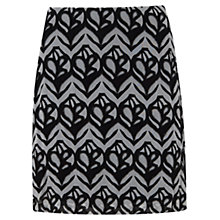 Buy Mint Velvet Faith Print Skirt, Black/Ivory Online at johnlewis.com