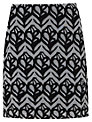 Mint Velvet Faith Print Skirt, Black/Ivory