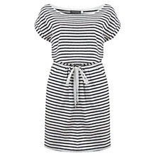 Buy Mint Velvet Stripe Jersey Dress, Ivory Online at johnlewis.com