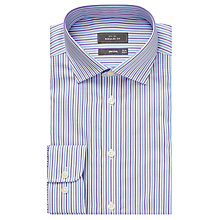 Buy John Lewis Twill City Stripe Shirt, Purple Online at johnlewis.com
