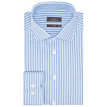 Buy John Lewis Twill City Stripe Shirt, Blue Online at johnlewis.com