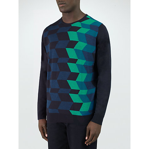 Buy John Smedley Kelby Pure Merino Wool Jumper, Charcoal Online at johnlewis.com