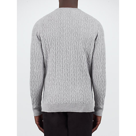 Buy John Smedley Dales Imperial Merino Jumper, Silver Online at johnlewis.com