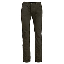 Buy Diesel Darron 8QU Tapered Jeans, Dark Grey Online at johnlewis.com