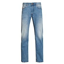 Buy Diesel Waykee Regular Fit Straight Jeans, Light Wash Online at johnlewis.com